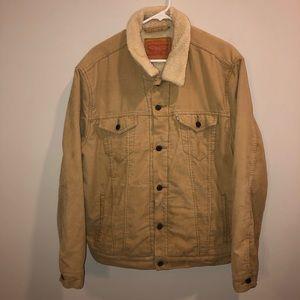 Levi Strauss Tan Denim Sherpa Jacket Vintage